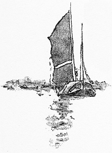 Bateau chinois 3. Illustration de Mortimer Menpes (1855-1938), China, 1909.