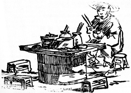 La table. Henri Lecourt : La cuisine chinoise. Éditions Albert Nachbaur, Pékin, 1925.