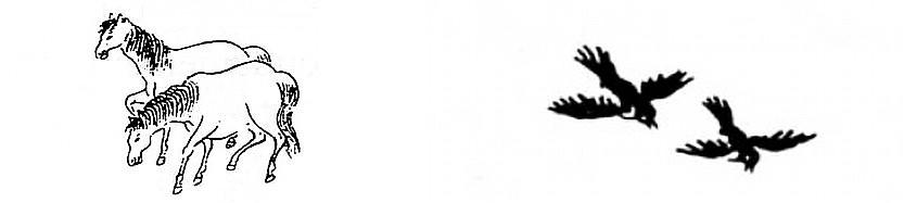 Chevaux, hirondelles. - Marcel Granet (1884-1940) : Chansons d'amour de la vieille Chine. — Revue des Arts Asiatiques, vol. 2, n° 3, septembre 1925, pages 24-40.