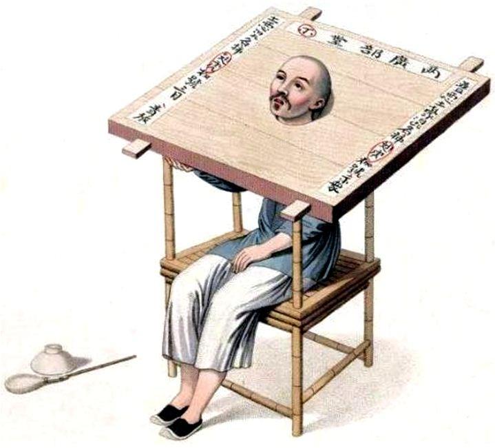 Les punitions des Chinois. Texte de George Henry Mason. Gravures de J. Dadley. G. Miller, Londres, 1801. 13. La punition du collier de bois.