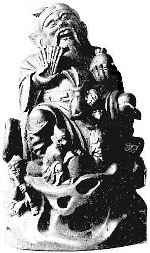 Le dieu des Richesses.— Henri Maspero (1883-1945) : Mythologie de la Chine moderne. — Mythologie asiatique illustrée, Librairie de France, Paris, 1928, pages 227-362.
