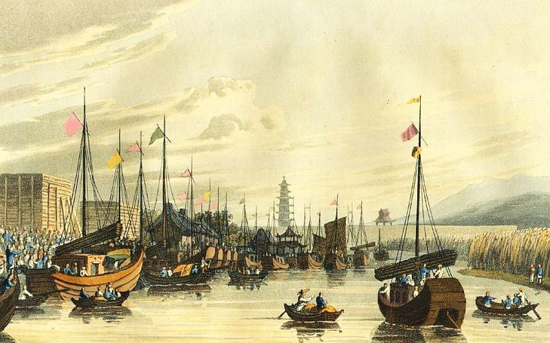 Tong-chow. Henry Ellis (1777-1855) : Voyage en Chine, ou Journal de la dernière ambassade anglaise à la cour de Pékin. Paris, 1818.