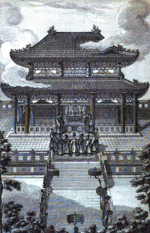 L'Empereur Tchen-tsoung se disposant à faire les cérémonies en l'honneur de Koung-tsée