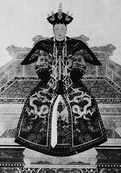 Impératrice de K'ang-hi. Vuilleumier. Tissus et tapisseries de soie dans la Chine ancienne