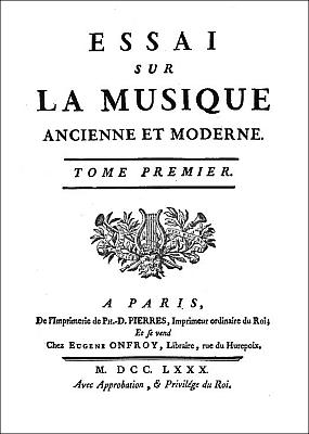 Jean-Benjamin de La Borde (1734-1794) : De la musique des Chinois, extrait de : Essai sur la musique ancienne et moderne. Pierres, Imprimeur, Paris, 1780. Tome premier, 20 planches.