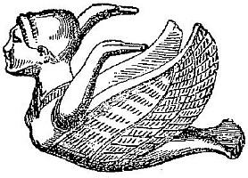 Sirène volant. Fernand de Mély (1852-1935) : Le « De Monstriis » chinois. Revue archéologique, 1897.