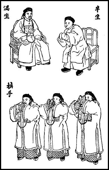 Planche 2. Simon KIONG : Quelques mots sur la politesse chinoise Variétés sinologiques n° 25, Mission catholique, T'ou-sé-wé, Chang-hai, 1906.