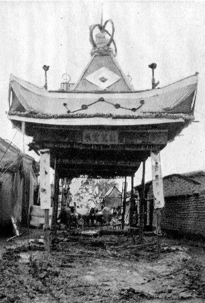 Pavillon funéraire provisoire