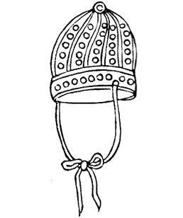 Le bonnet de couleur fauve k'î pién était de peau de cerf tacheté.
