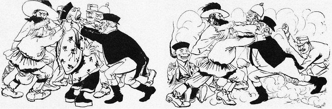 Ustokos. John Grand-Carteret (1850-1927) : Chinois d'Europe et Chinois d'Asie. 175 images satiriques, pour servir à l'histoire des chinoiseries de la politique européenne de 1842 à 1900.