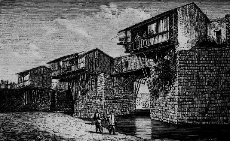 Ta-toun-fou, au Shan-si. Julien de ROCHECHOUART (1830-1879) : Pékin et l'intérieur de la Chine. Plon, Paris, 1878