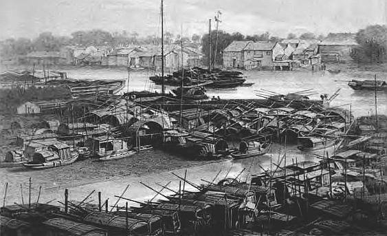 La ville flottante de Canton. Jules Itier (1802-1877) : Journal d'un voyage en Chine en 1843, 1844, 1845, 1846. — À Paris, chez Dauvin et Fontaine, libraires-éditeurs, 1848-1853.