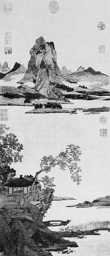 Paysage mythologique kosseu. Vuilleumier. Tissus et tapisseries de soie dans la Chine ancienne.