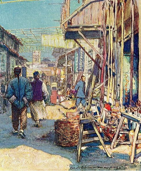 A typical street scene.