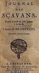 Couverture. François BERNIER (1625-1688) : Introduction à la lecture de Confucius. — Extrait de pièces envoyées pour étrennes par M. Bernier à Mme de la Sablière.  Journal des Sçavans, 7 juin 1688.