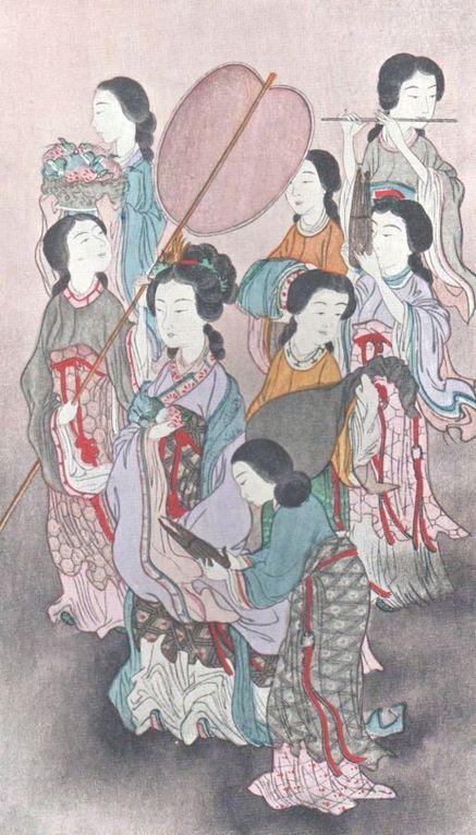 Judith Gauthier (1845-1917) : Le paravent de soie et d'or. L'impératrice Zin-Gou du Japon.
