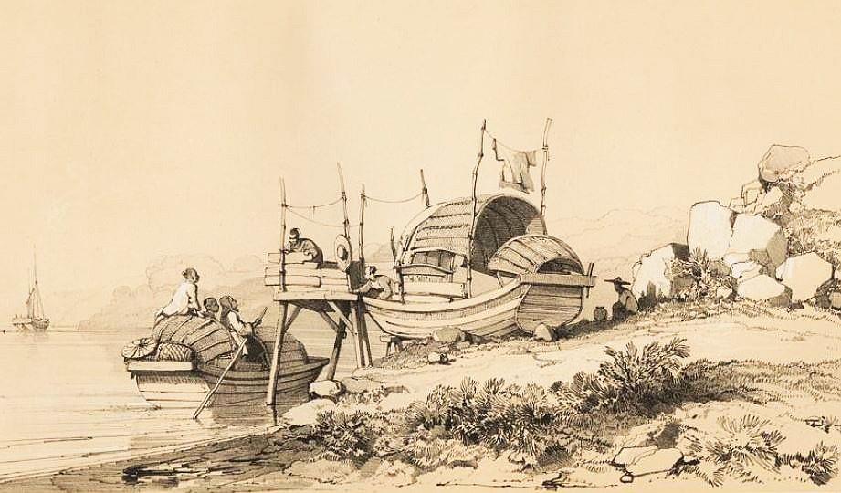Petit bateau de passage de Macao.