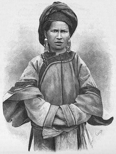 La maîtresse. Paul VIAL (1855-1917) : Les Gni ou Gni-Pa, tribu lolote du Yun-nan. Les Missions catholiques, Lyon, tome XXV, 1893; tome XXVI, 1894.