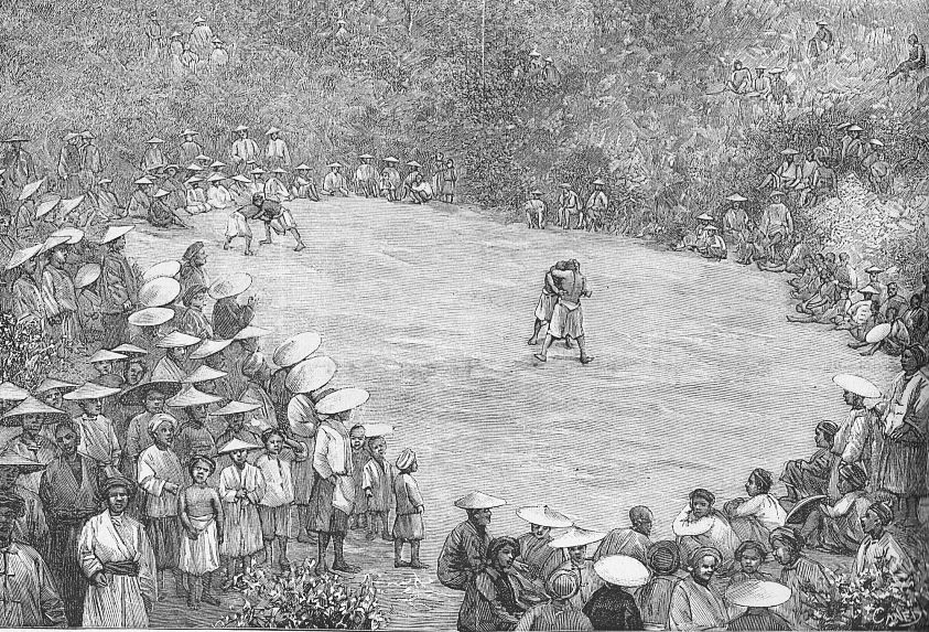 Lutteurs gni. Paul VIAL (1855-1917) : Les Gni ou Gni-Pa, tribu lolote du Yun-nan. Les Missions catholiques, Lyon, tome XXV, 1893; tome XXVI, 1894.