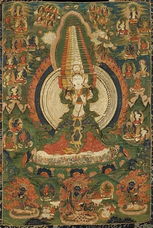 Sitâtapatrâ, sous son aspect Usnîsa. Pierre ROUSSEAU (1889-1939) : L'art du Tibet. La peinture. L'architecture. — Revue des Arts Asiatiques, Vol. 4, No. 1 (mars 1927), pp. 21-39, et Vol. 4, No. 2 (juin 1927), pp. 83-97.
