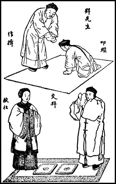 Planche 6. Simon KIONG : Quelques mots sur la politesse chinoise Variétés sinologiques n° 25, Mission catholique, T'ou-sé-wé, Chang-hai, 1906.