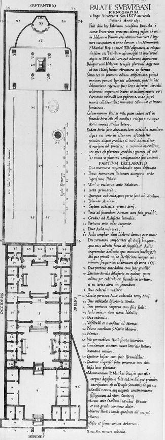 Plan de la métairie. Histoire de l'expédition chrétienne au royaume de la Chine, tirée des mémoires de Matthieu RICCI (1552-1610) par Nicolas TRIGAULT (1577-1628), et traduite par D. F. de Riquebourg-Trigault - Imprimerie de P. de Rache, Lille, 1617.