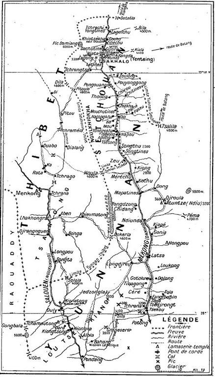 Francis GORÉ (1883-1954). Ecrits sur le Thibet. À la frontière yunnano-thibétaine.