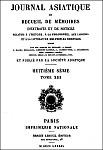 Deux insurrections des mahométans du Kan-sou (1648-1783). Journal asiatique, novembre-décembre 1889.