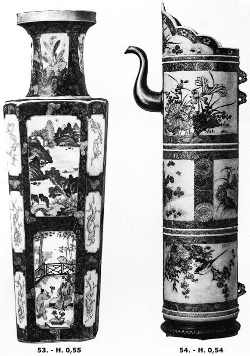 Pièces 53 et 54 de Ernest Grandidier (1833-1912) : La céramique chinoise. Firmin-Didot, Paris, 1894, in-4, II+232 pages+42 planches d'héliogravures par Dujardin, reproduisant 124 pièces de la collection de l'auteur.