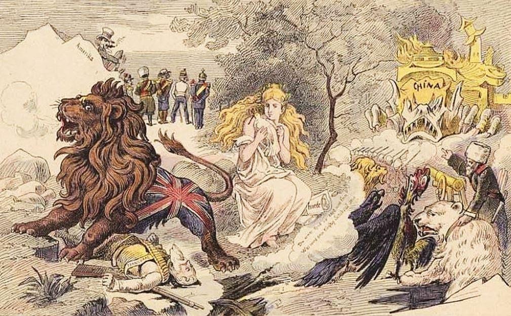 Paix européenne. John Grand-Carteret (1850-1927) : Chinois d'Europe et Chinois d'Asie. 175 images satiriques, pour servir à l'histoire des chinoiseries de la politique européenne de 1842 à 1900.