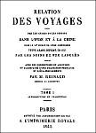 Reinaud : Relation des voyages d'Arabes et Persans en Chine au IXe s. Imprimerie royale, Paris, 1845.