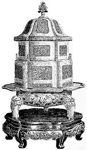 Brûle-parfums d'émail cloisonné. Maurice Paléologue (1859-1944) : L'art chinois — Alcide Picard, éditeur, Paris, 1910, 320 pages. Première édition : Maison Quantin, Paris, 1887.