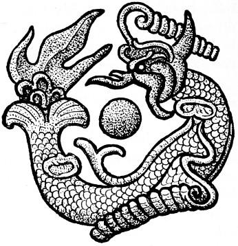 Fig. 147. Gisbert Combaz (1869-1941) : Masques et dragons en Asie. La Chine. — Mélanges chinois et bouddhiques, Institut belge des Hautes Études Chinoises,  vol. VII. Bruges, 1945.