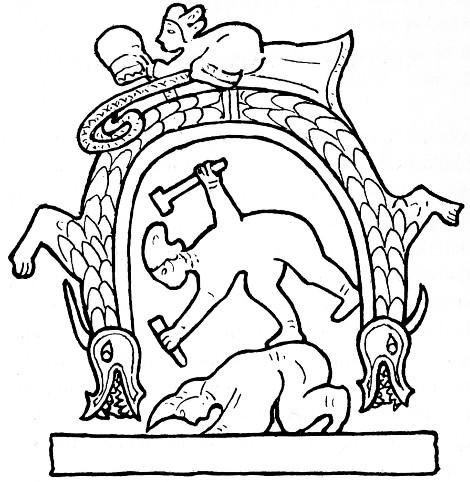 Arc à têtes de dragons. Marinus Willem de VISSER (1876-1930) : The Dragon in China. — J. Müller, Amsterdam, 1913, pages I-IX, 1-134 (Book I), 231-237 de XII+247 pages.