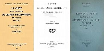 Virgile PINOT (1883-1936) : Les physiocrates et la Chine au XVIIIe siècle. — La Chine et la formation de l'esprit philosophique en France (1640-1740)