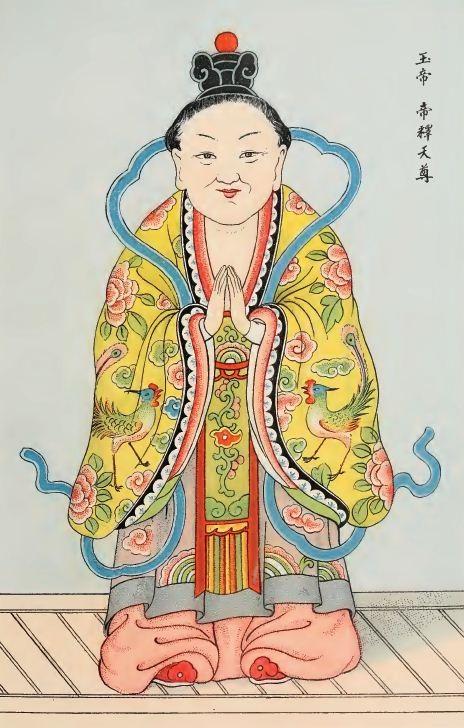 Yu-ti ou Ti-che (Indra) sous figure féminine (Pagode P'ou-t'i-chan-yuen).