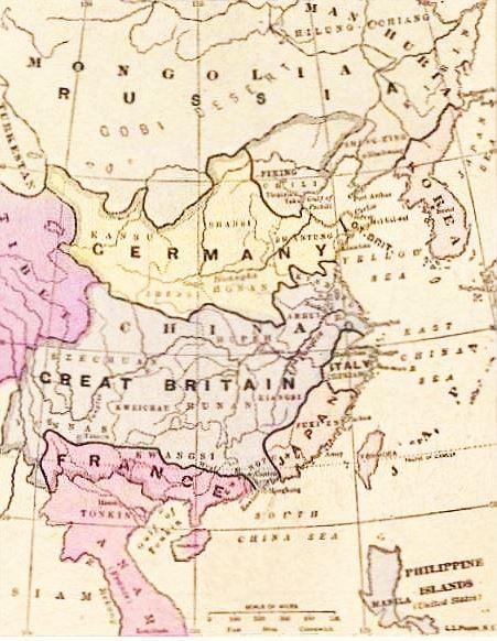Le partage. John Grand-Carteret (1850-1927) : Chinois d'Europe et Chinois d'Asie. 175 images satiriques, pour servir à l'histoire des chinoiseries de la politique européenne de 1842 à 1900.