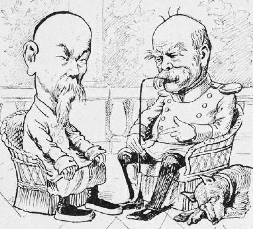 LHC, Bismarck. John Grand-Carteret (1850-1927) : Chinois d'Europe et Chinois d'Asie. 175 images satiriques, pour servir à l'histoire des chinoiseries de la politique européenne de 1842 à 1900.