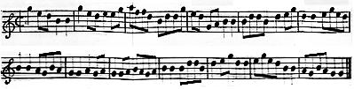 Musique chinoise. Extrait du Dictionnaire de musique de J. J. Rousseau