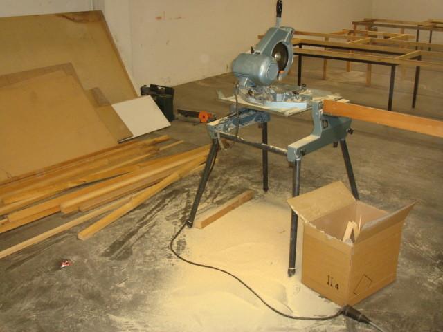Beginn mit den Holzarbeiten