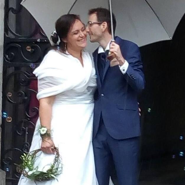 robe de mariéee en mousseline Sylvie BERRY COUTURE