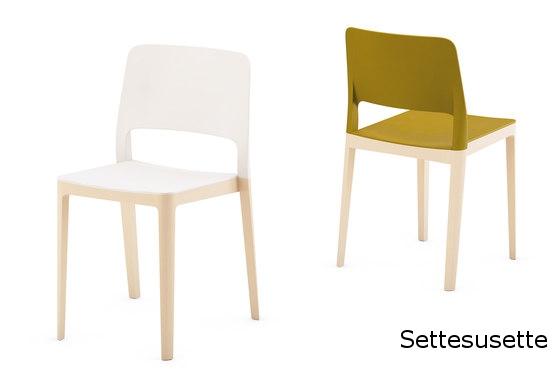 Settesusette silla de comedor cocina polipropileno madera infiniti design