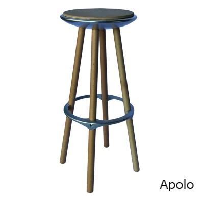 Apolo taburete alutec