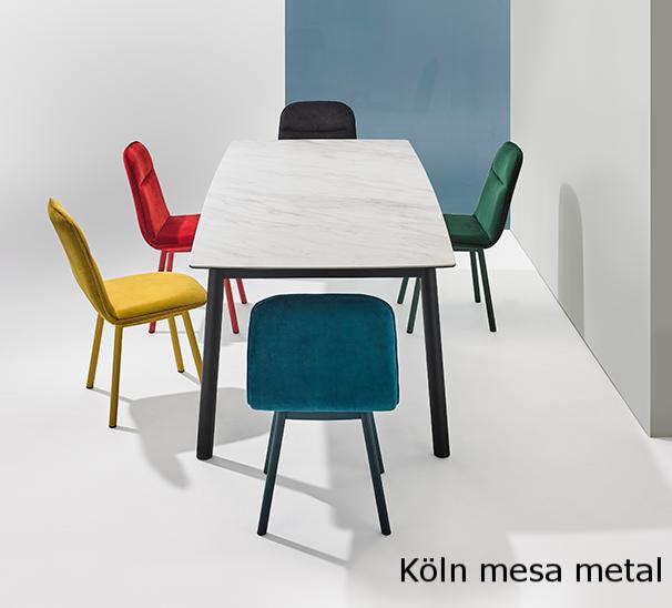 Köln mesa mobliberica metal fija o extensible