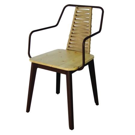 Charlotte sillón vintage de aluminio y cuerda alutec
