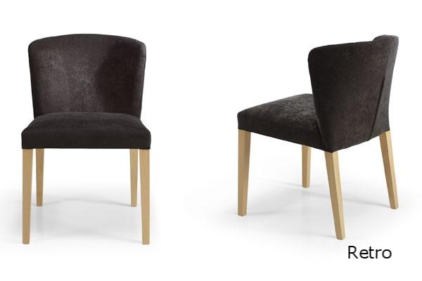 Retro silla moderna de comedor tapizada