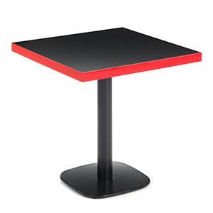 Mesa de hosteleria CR 4150 pie ovalado pintado sobre tablero colores