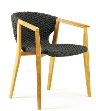 knit silla y sillón de teka y cuerda para terraza exyerior ethimo la cadira