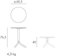spritz step nardi mesa de dos alturas para exterior