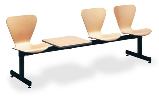 Bancada sala de espera asiento de madera